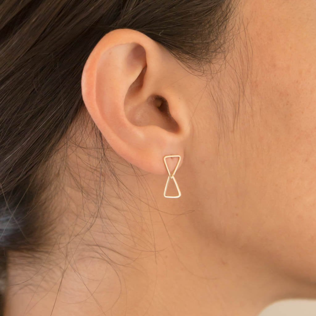 Carla Caruso - Double triangle stud drops
