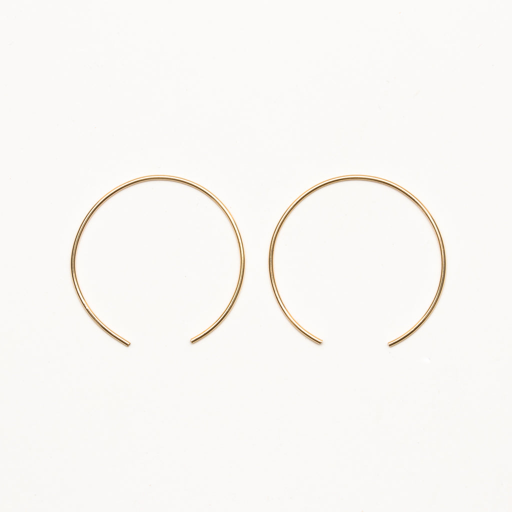 8.6.4 - Large Half Hoop Earrings - Norbu