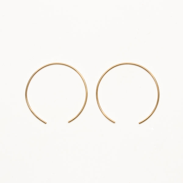 8.6.4 - Large Half Hoop Earrings