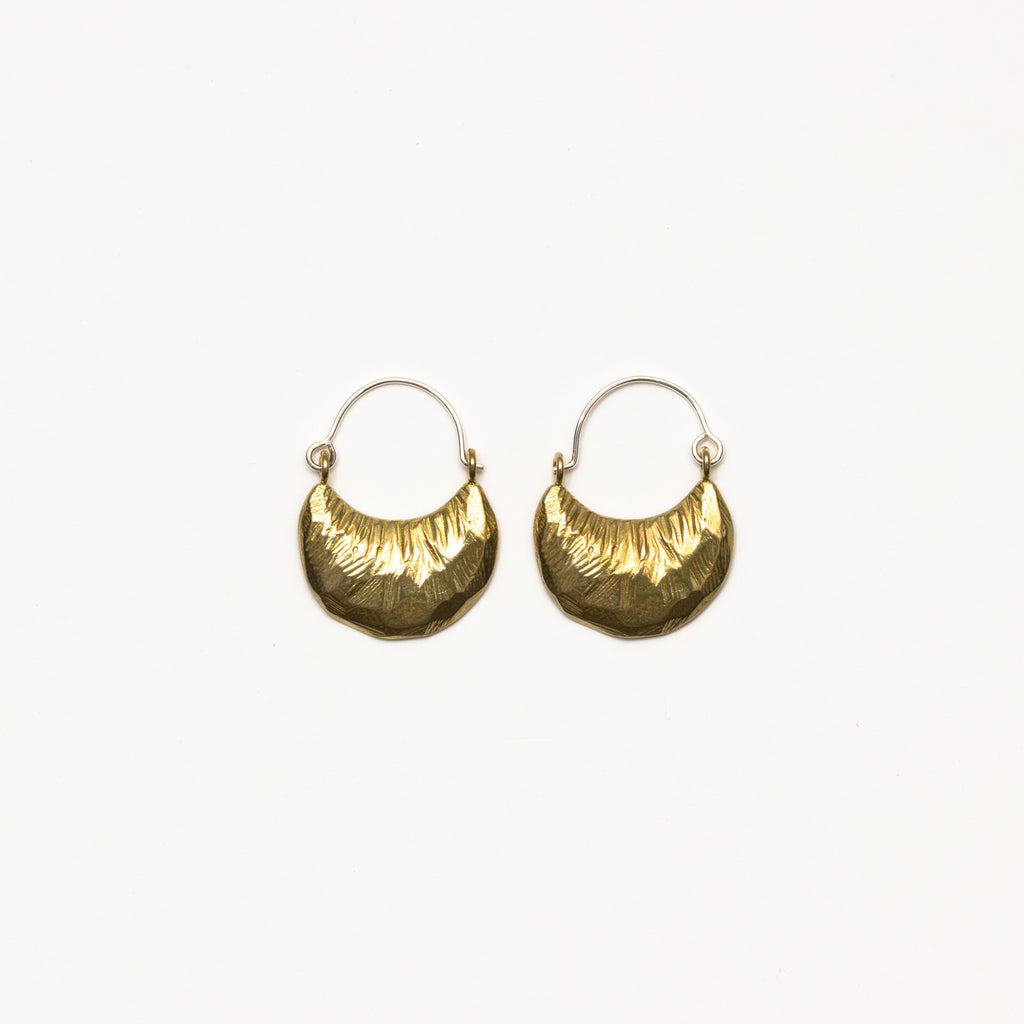Satomi Studio - Crescent Hoop Earrings