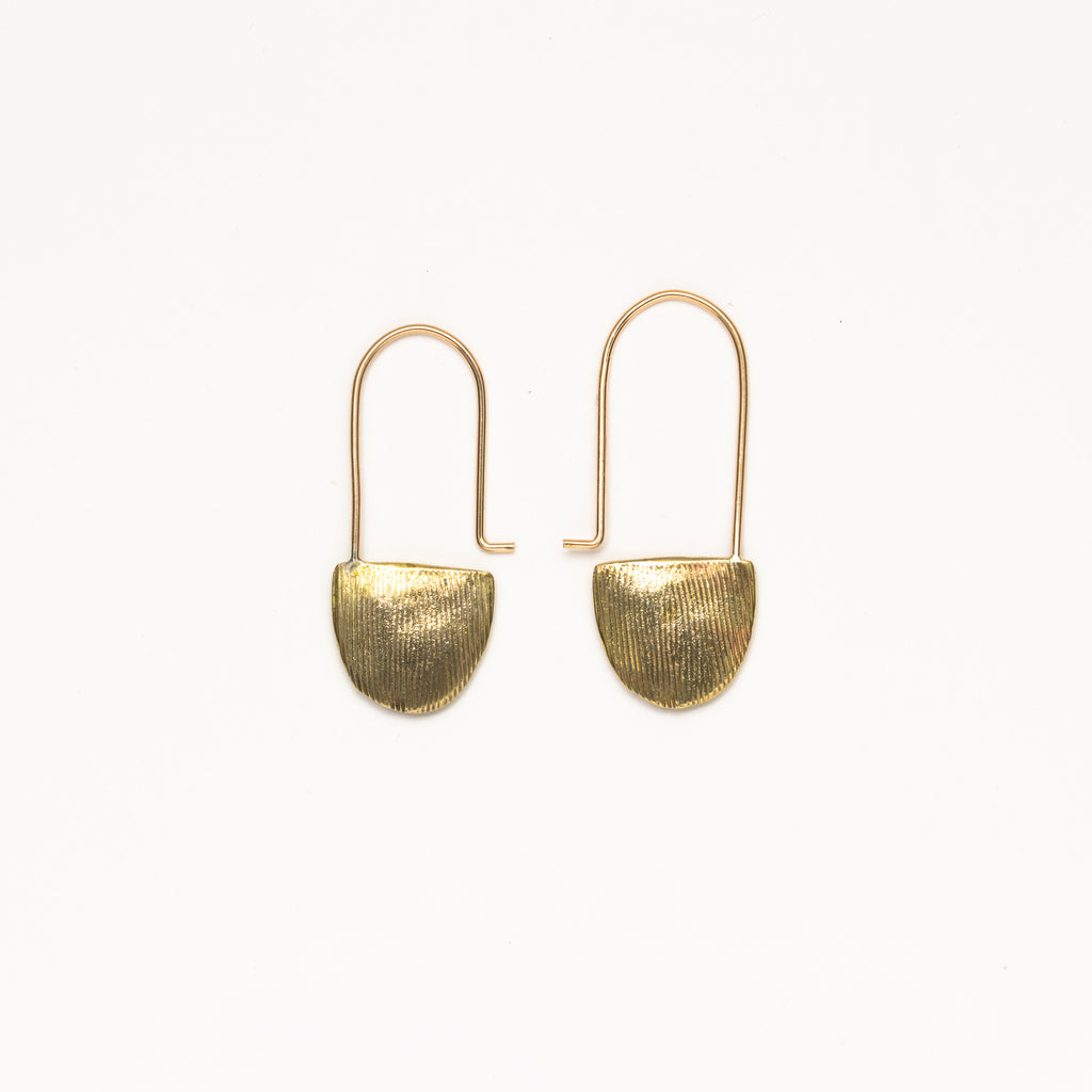 Satomi Studio - Ridge Hoop Earrings