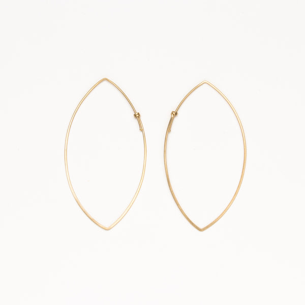 Carla Caruso - Large marquis dainty hoops