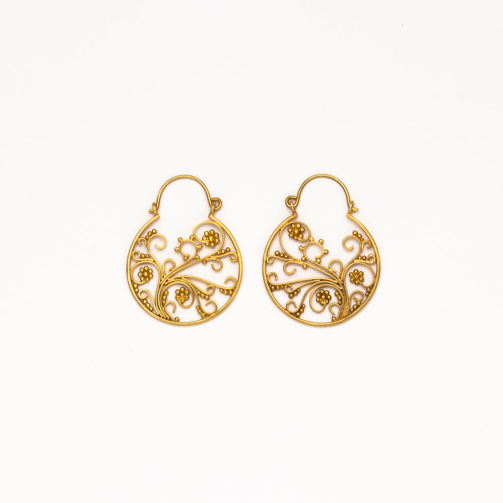Dream Mullick - Medium Flowering Vine Earrings