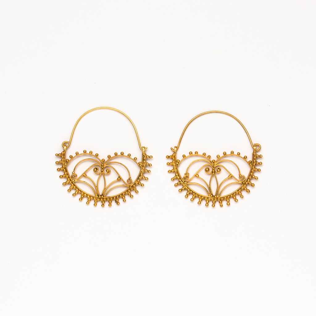 Dream Mullick - Large Tisket Tasket Basket Earrings