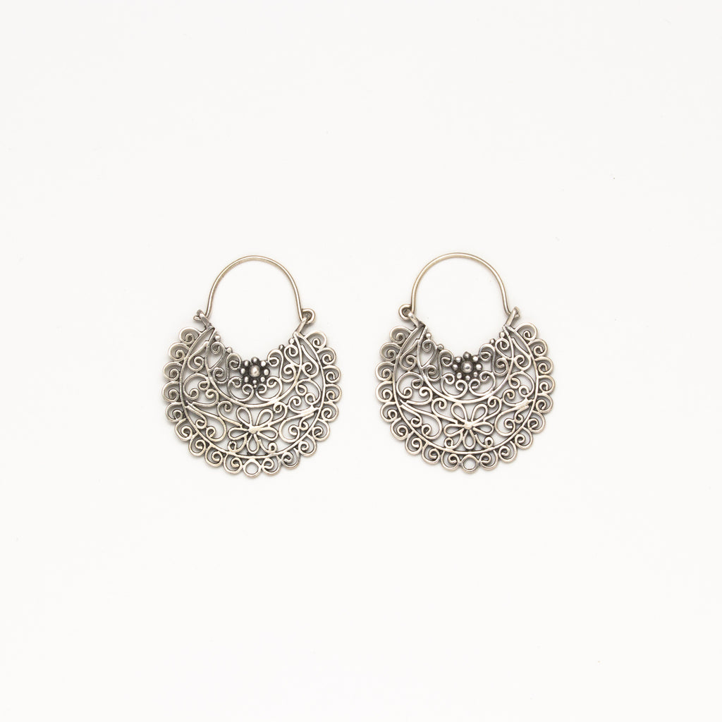 Dream Mullick - Large Flower Basket Earrings