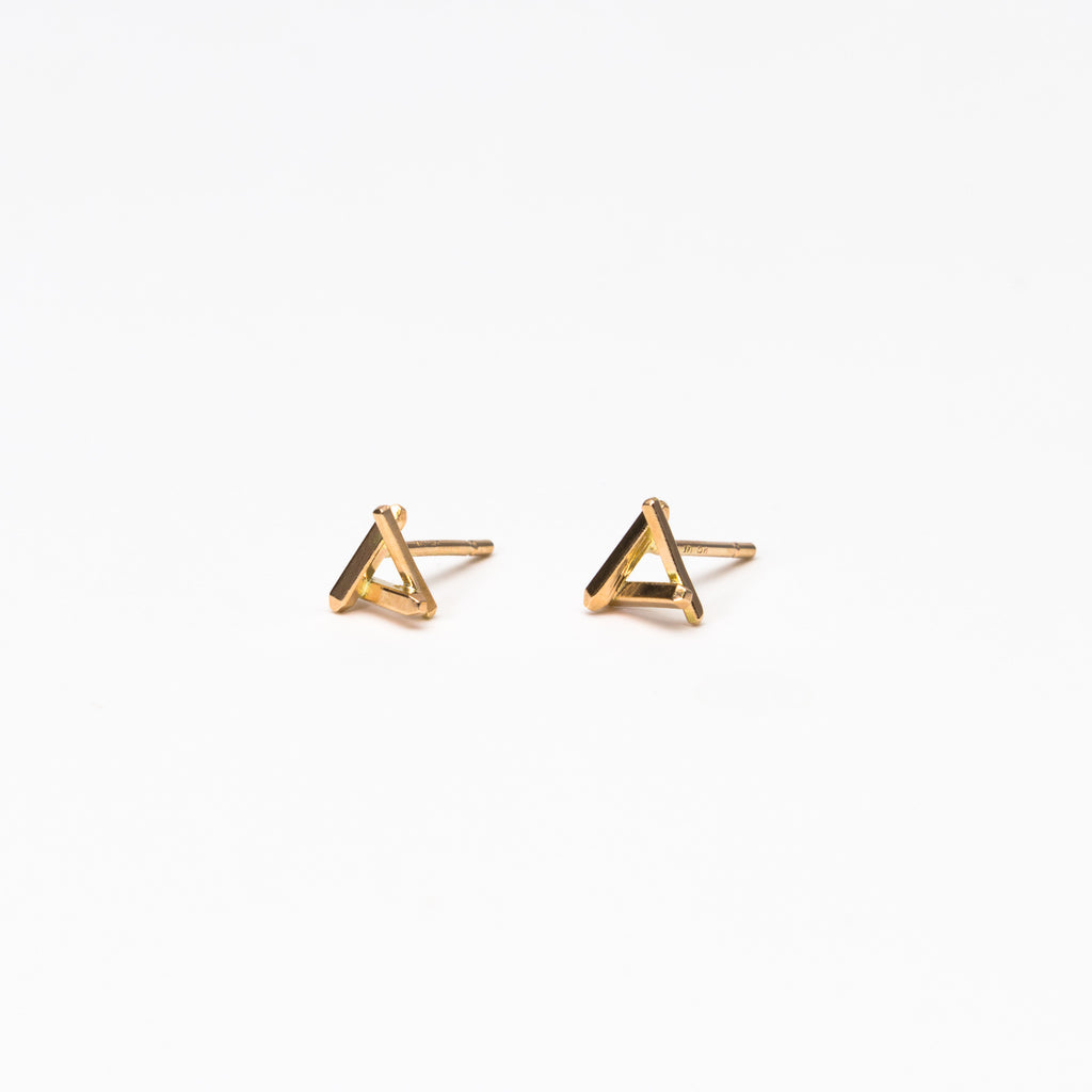 Mute Object - Geometric Triangle Stud Earrings