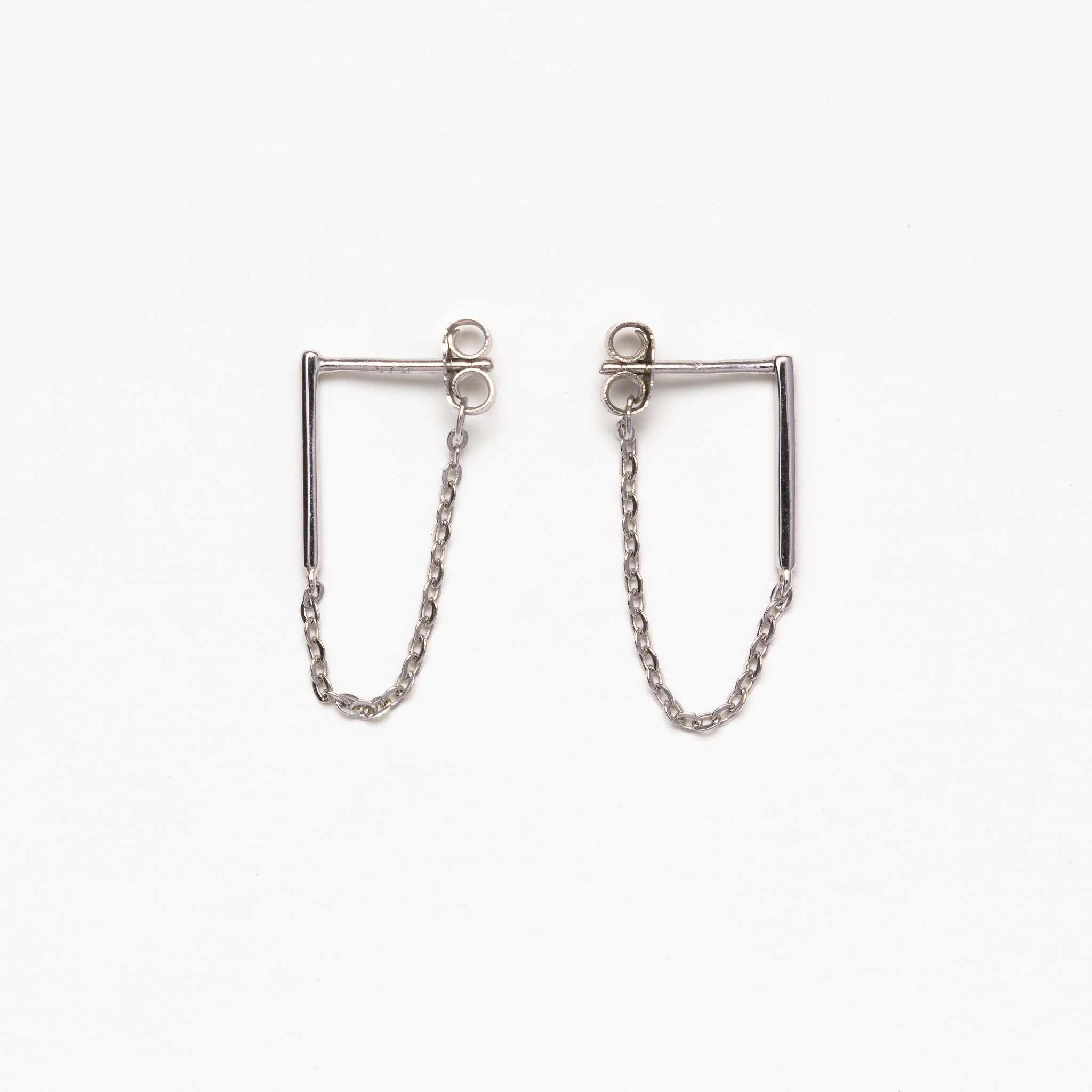 d9920487addde NSC - Bar and Chain Silver Earrings