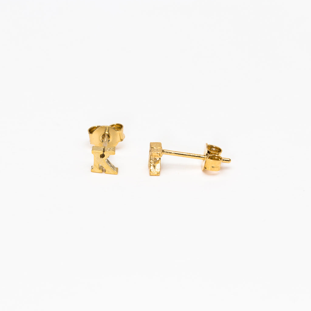 NSC - Initial K Stud Earrings