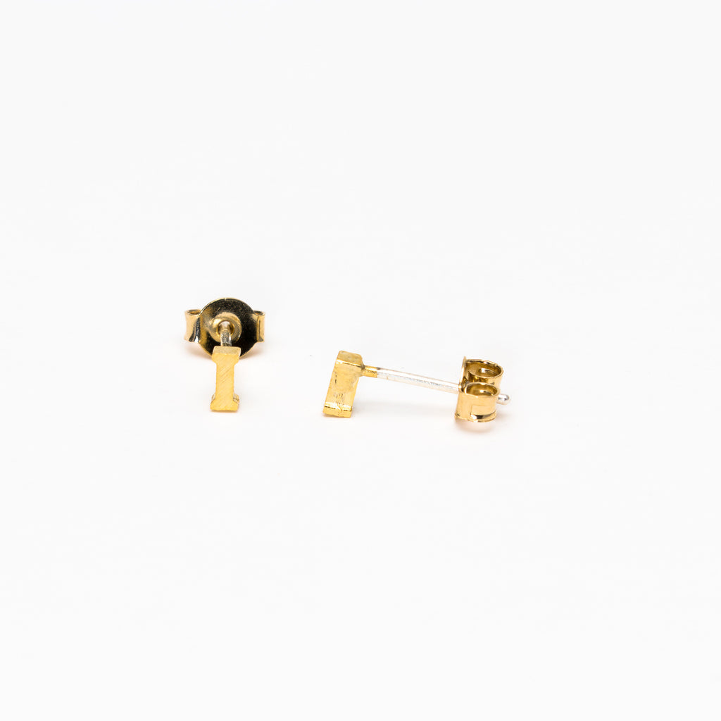 NSC - Initial I Stud Earrings