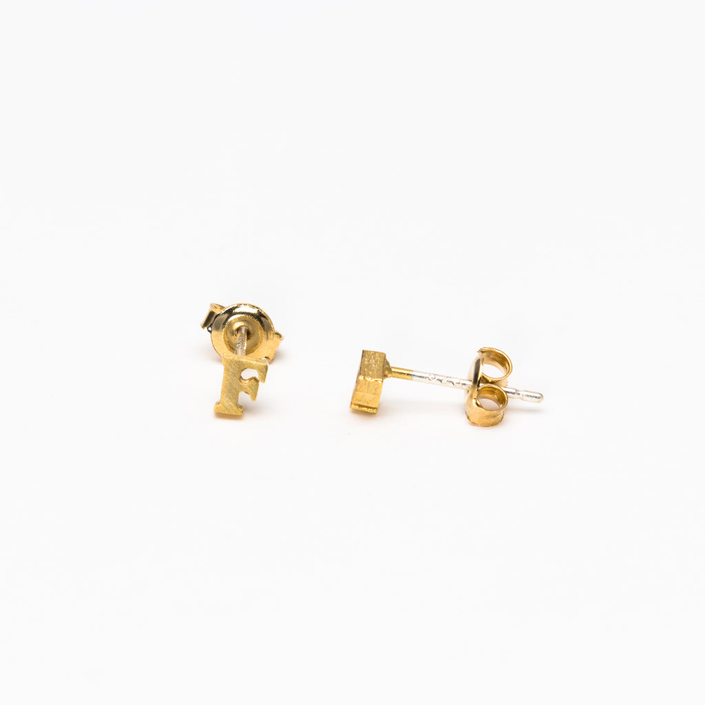 NSC - Initial F Stud Earrings