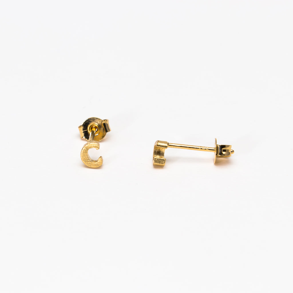NSC - Initial C Stud Earrings
