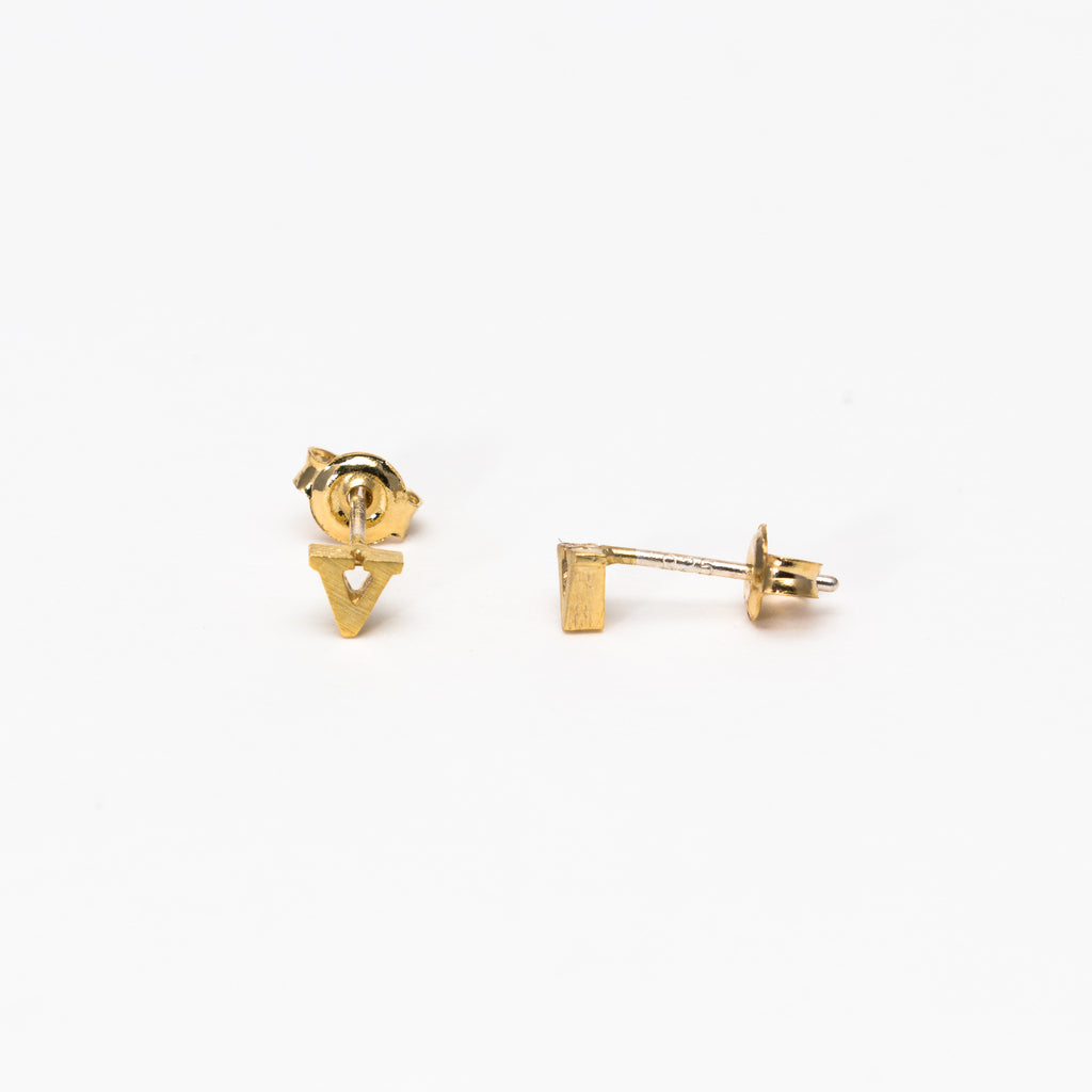 NSC - Initial V Stud Earrings