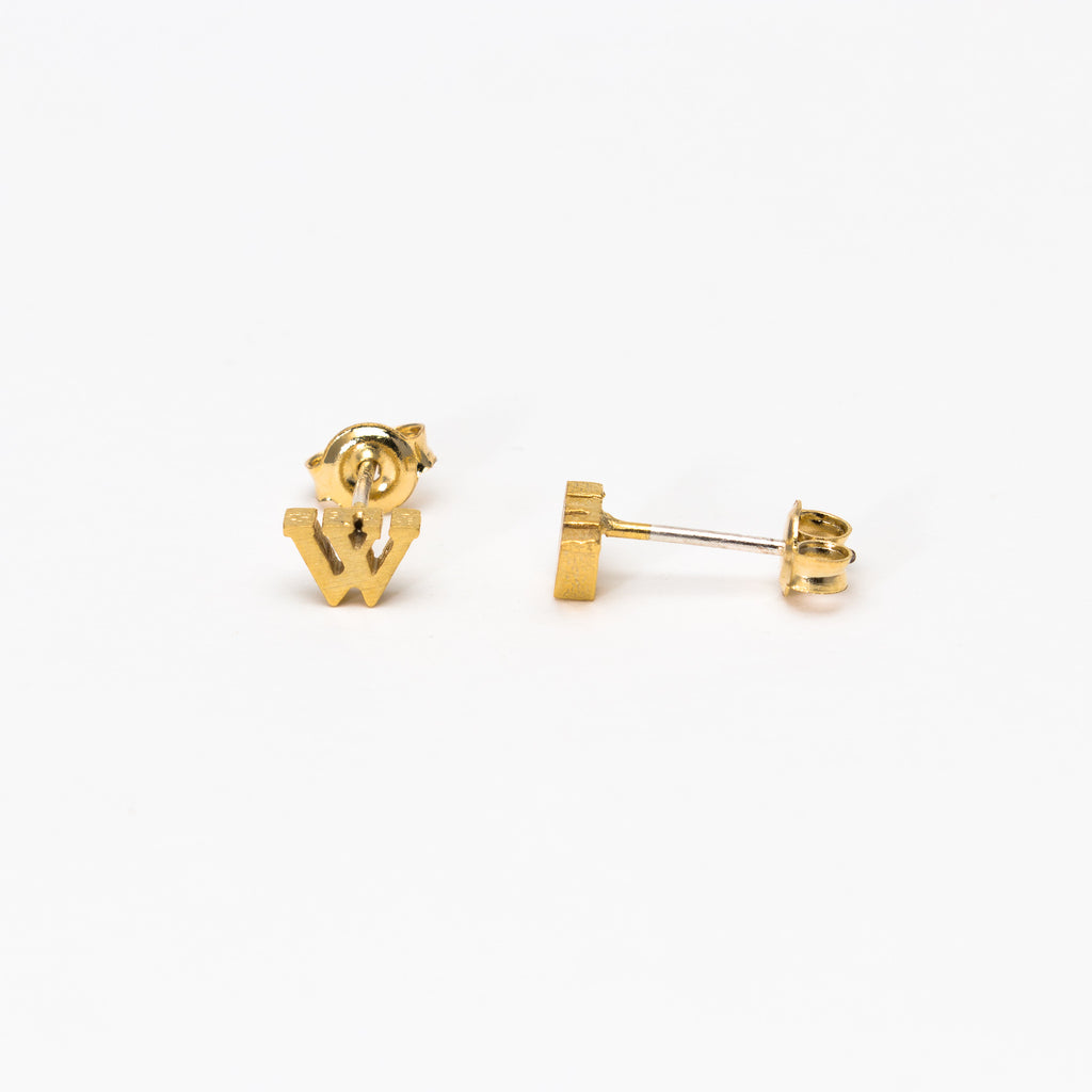NSC - Initial W Stud Earrings