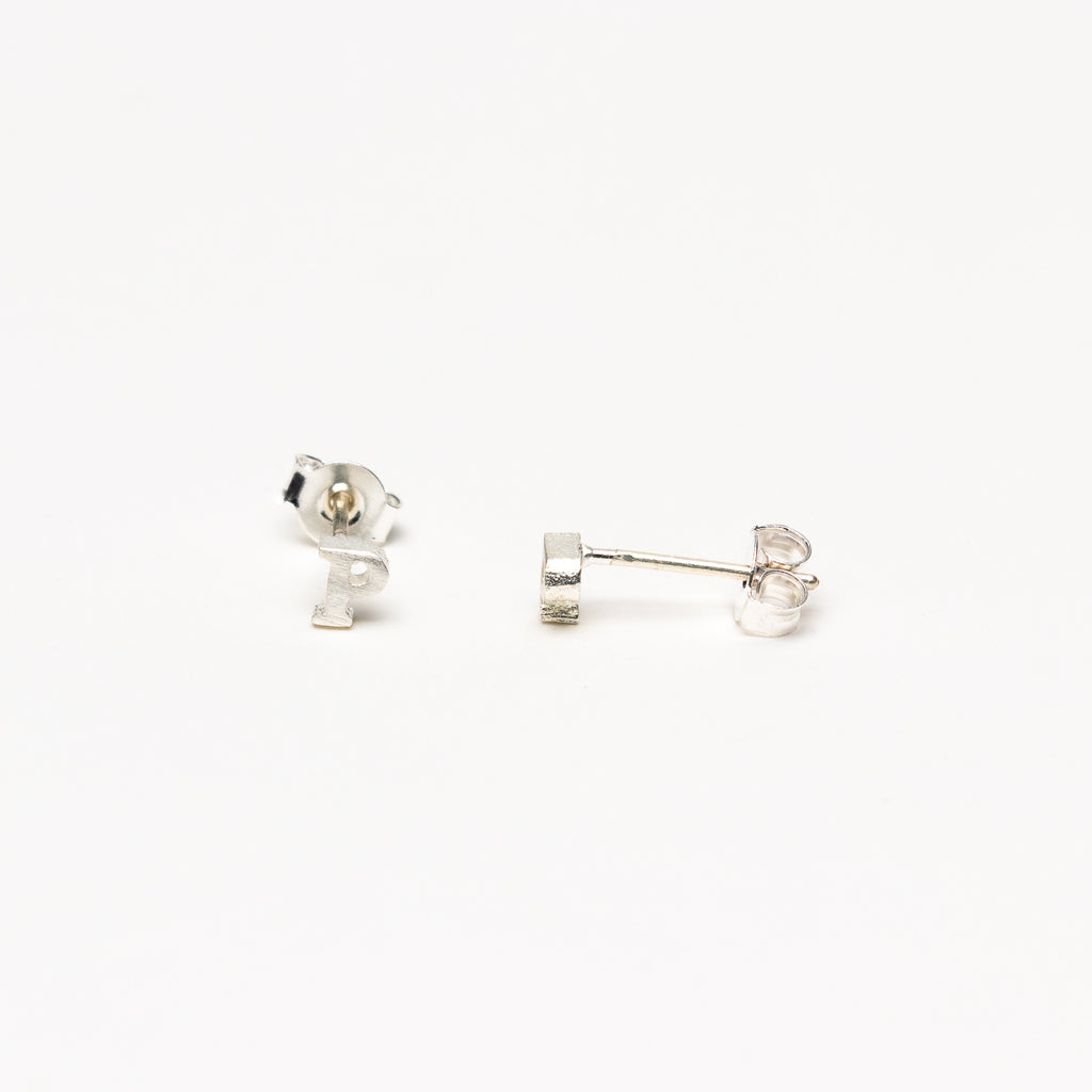 NSC - Initial P Stud Earrings