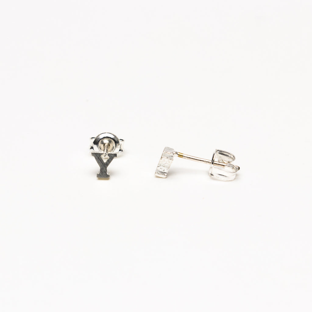 NSC - Initial Y Stud Earrings