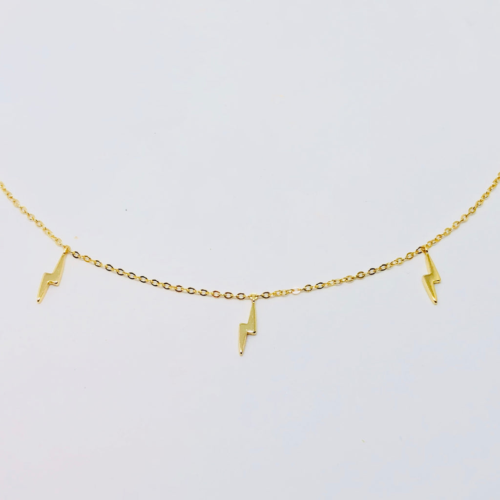NSC - Lightning bolt choker necklace