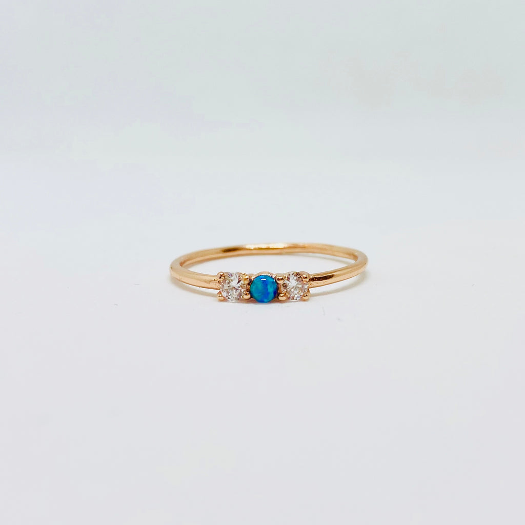 Opal with Cz ring