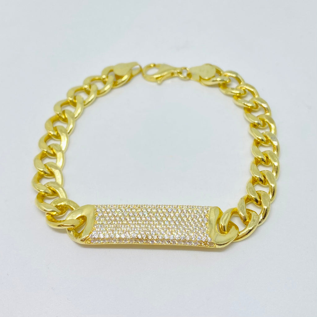 NSC - Heavy cuban chain bracelet with Cubic Zirconia