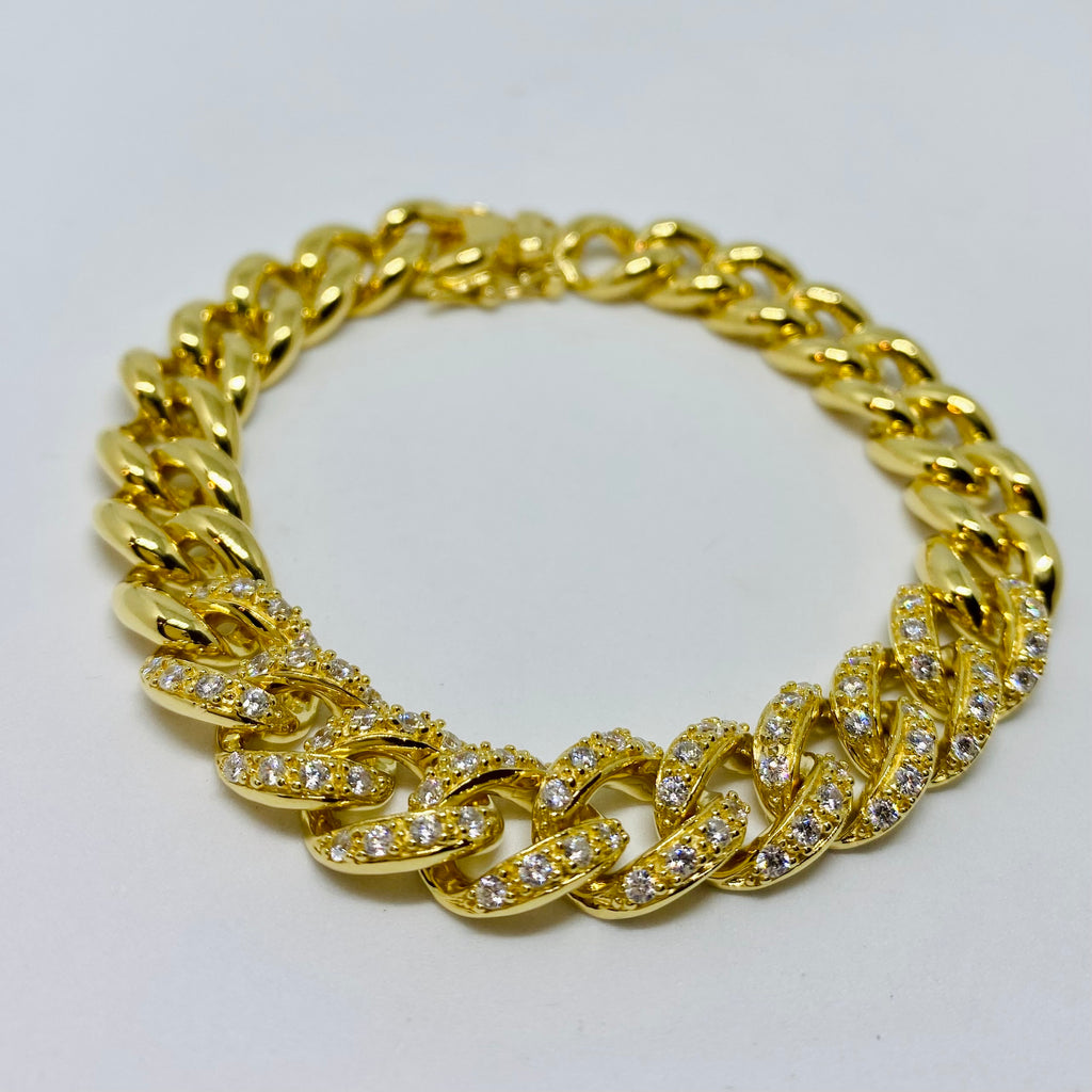 NSC - Cuban with Cubic zirconia bracelet