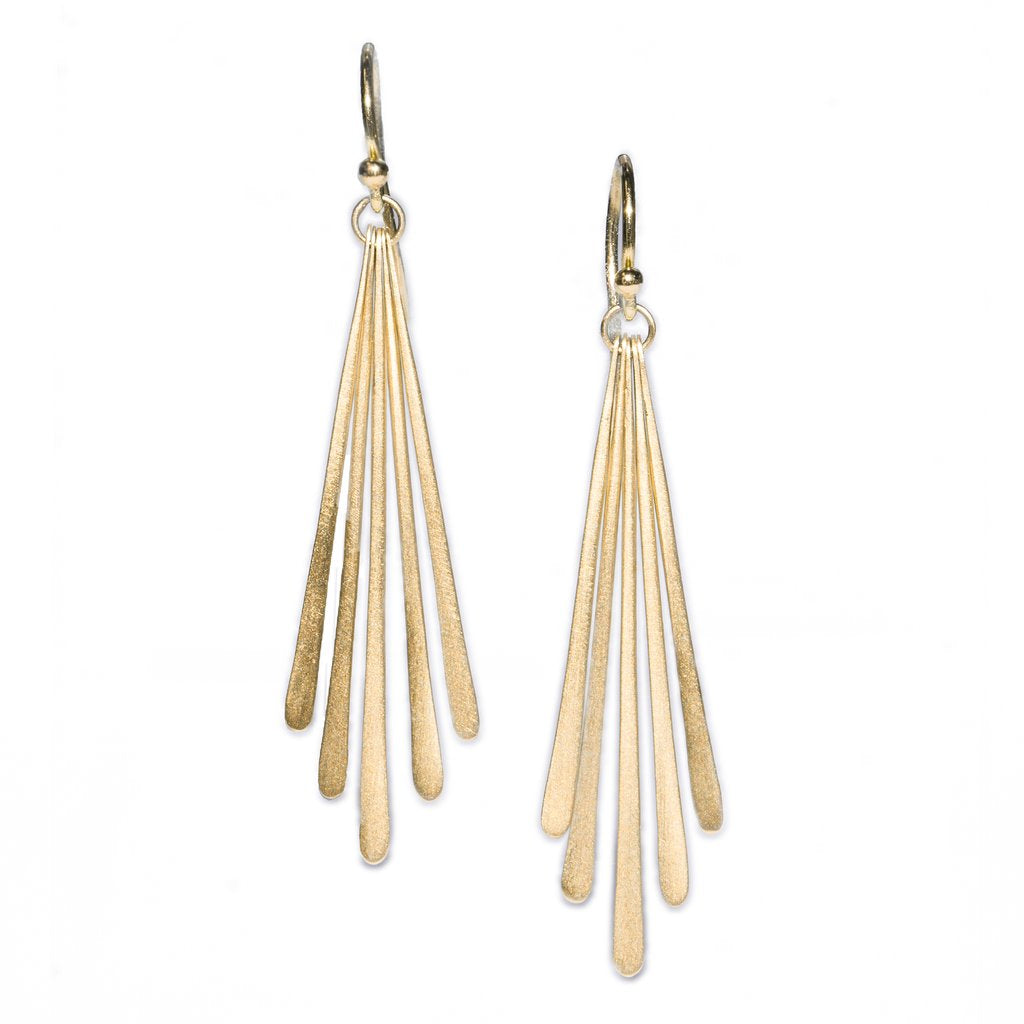 Carla Caruso - Five fringe drop earrings
