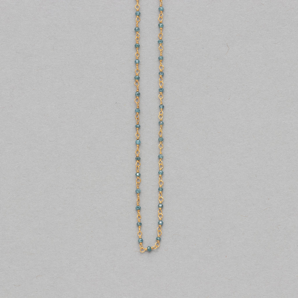 NFC - Blue diamond strand necklace