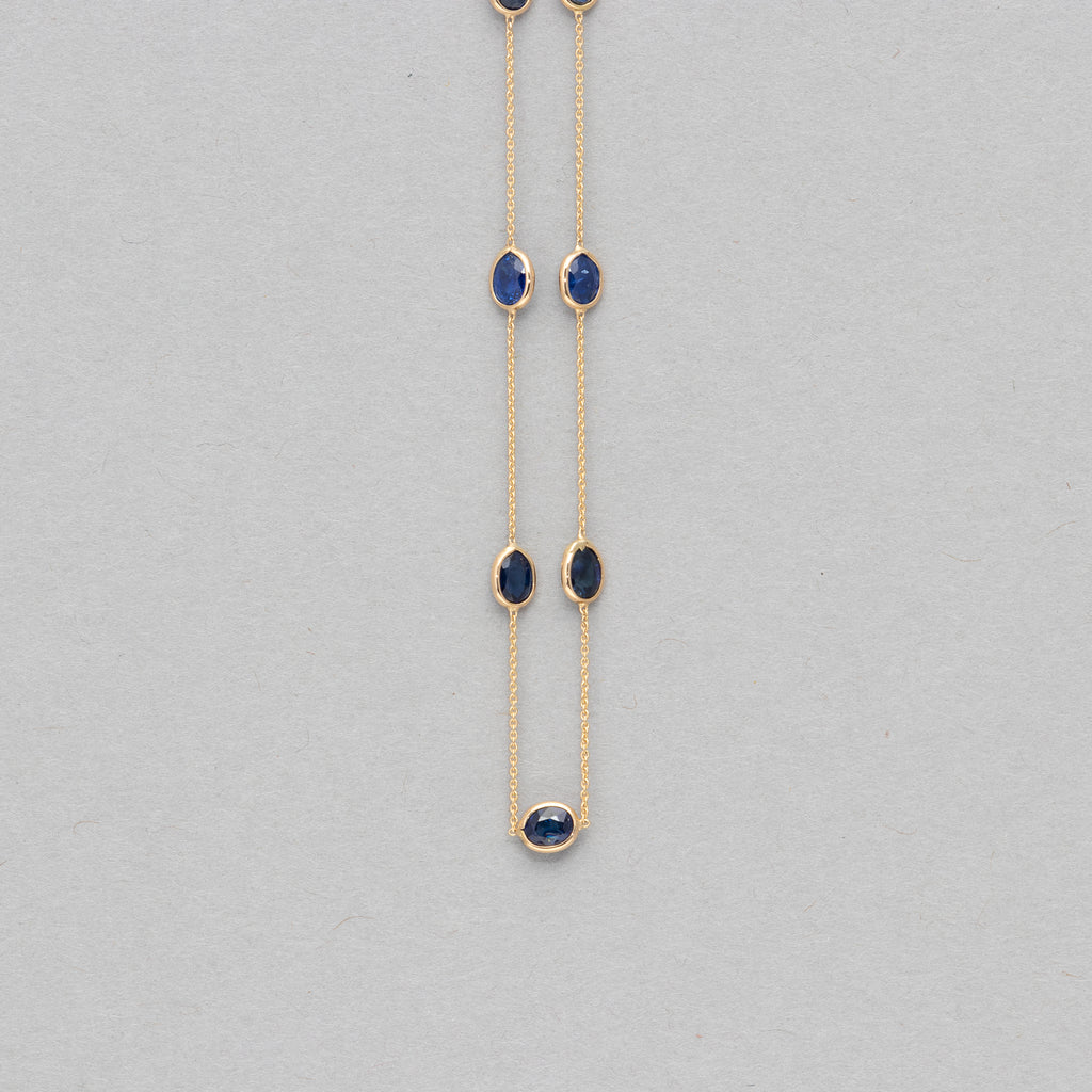 NFC - Sapphire strand necklace