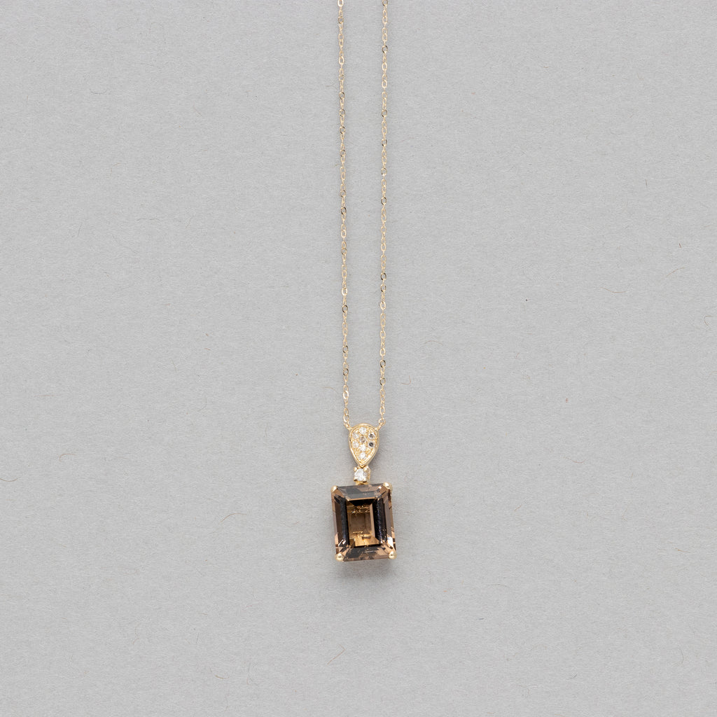 NFC - Emerald cut gemstone necklace