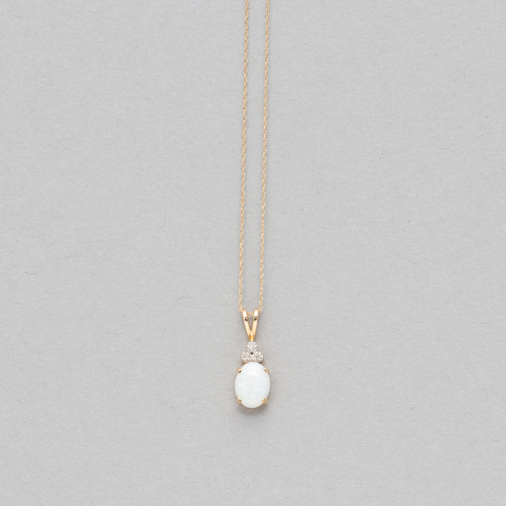 NFC - Opal with diamond drop necklace