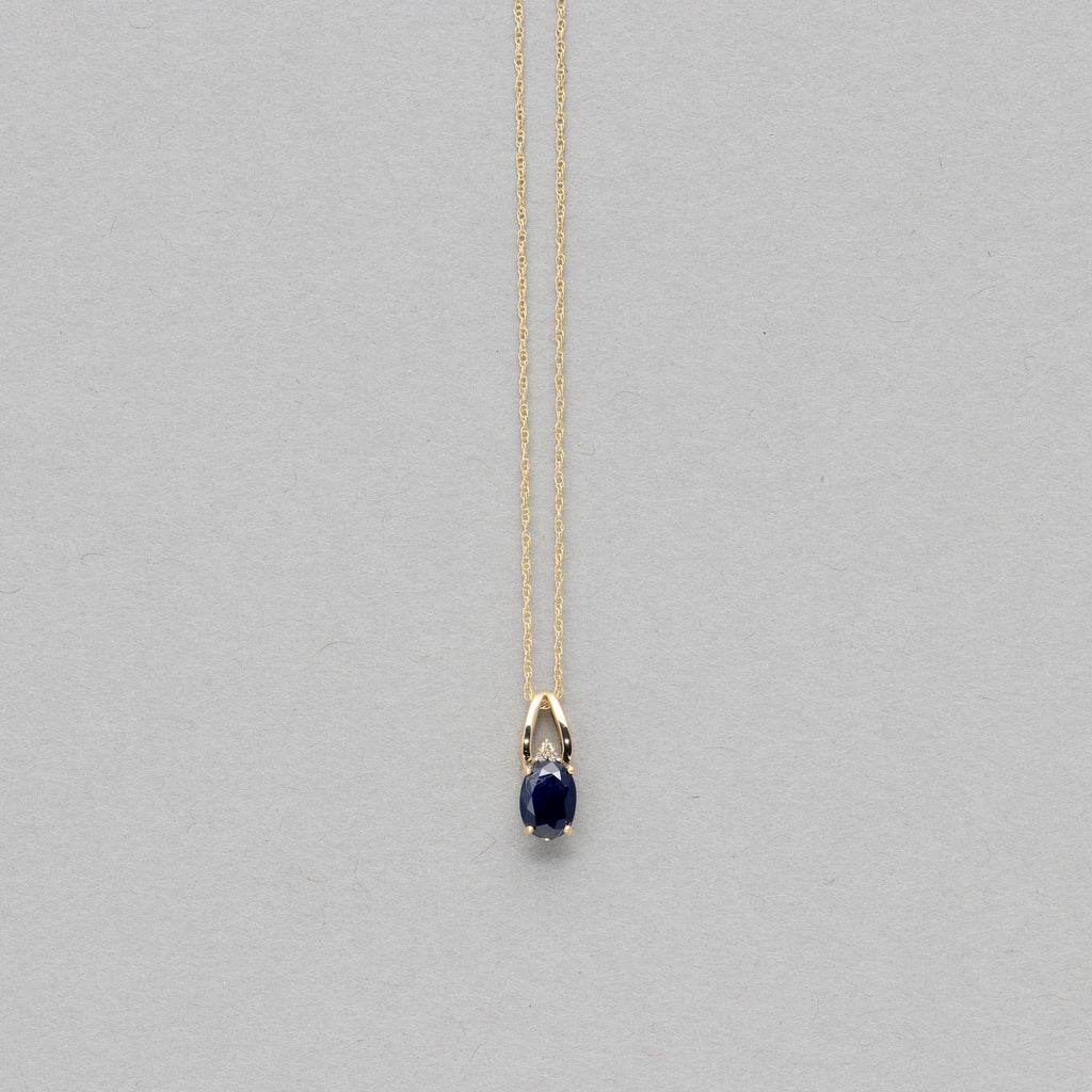 NFC - Single gemstone drop necklace