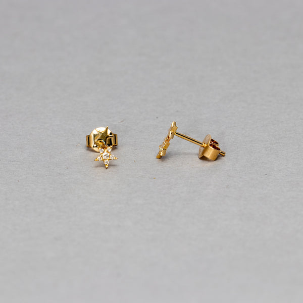 Liven - Petite double star stud earrings