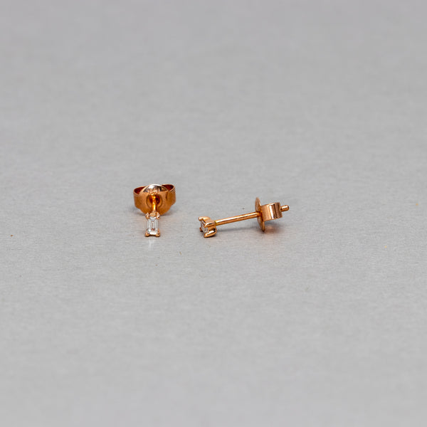 Liven - Petite baguette stud earrings
