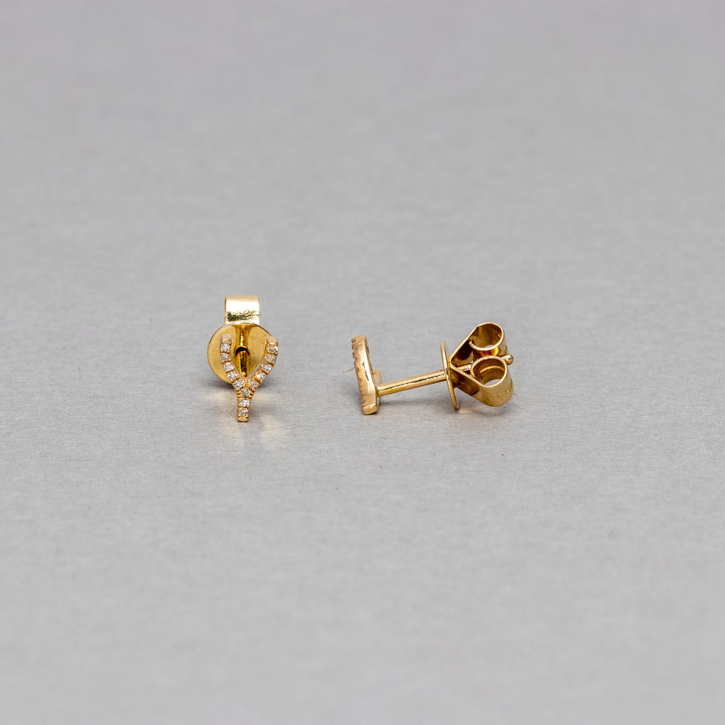 NFC - Small Wishbone stud earrings