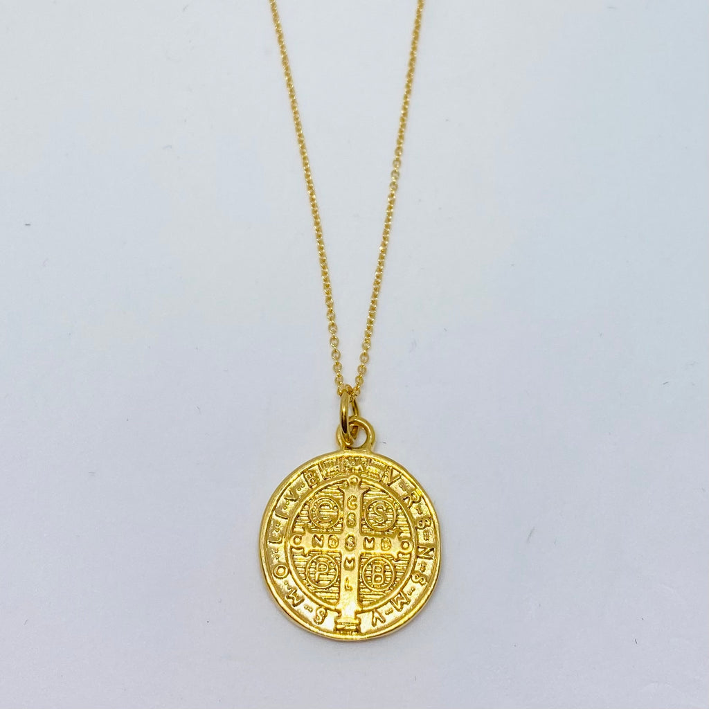 St. Benedict coin necklace