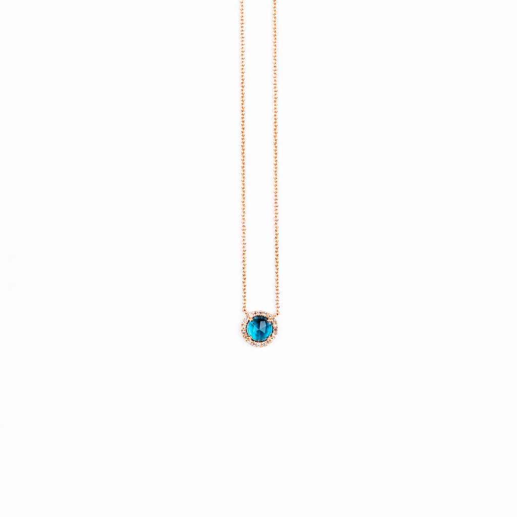 Liven - 5.0mm London Blue Topaz necklace