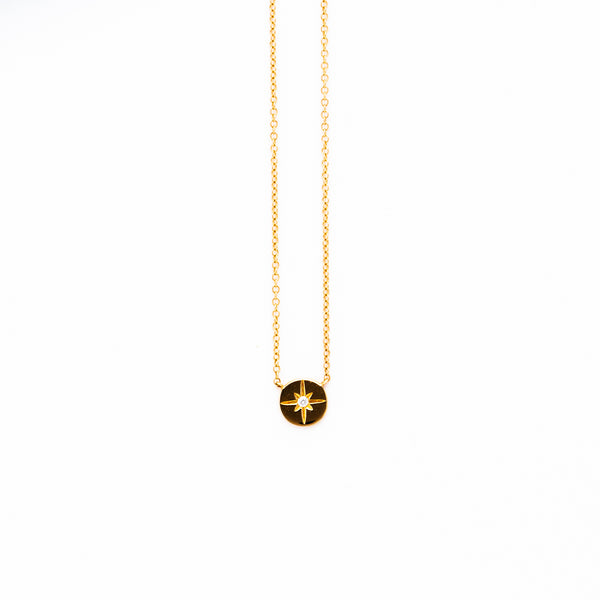Liven - Disc Starburst necklace