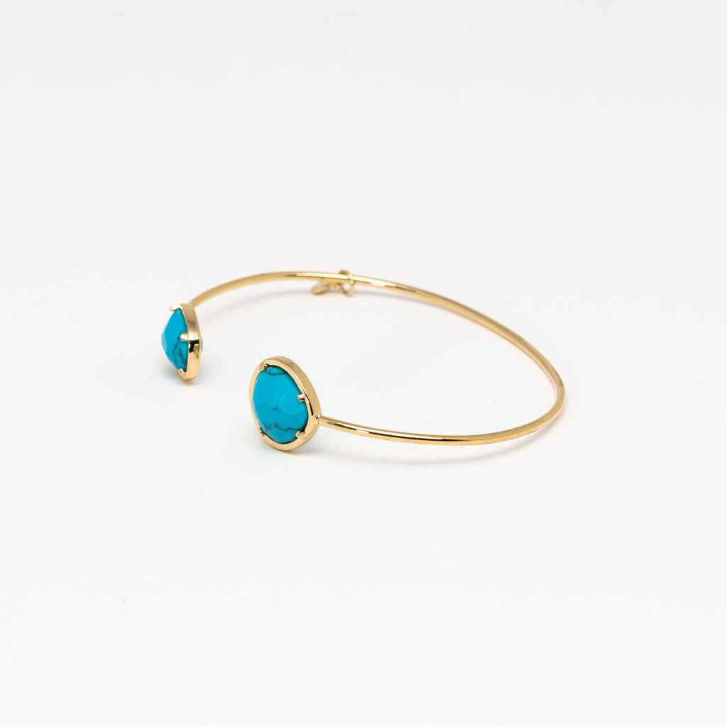 Tai Jewelry - Large Turquoise Open Cuff