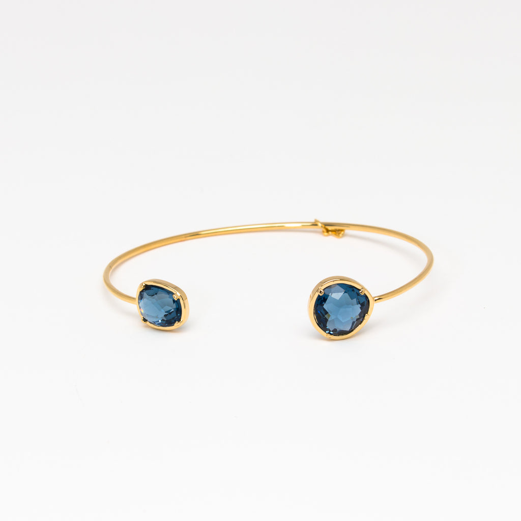 Tai Jewelry - Large Light Blue Open Cuff