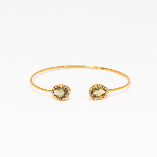 Tai Jewelry - Double Olive Open cuff