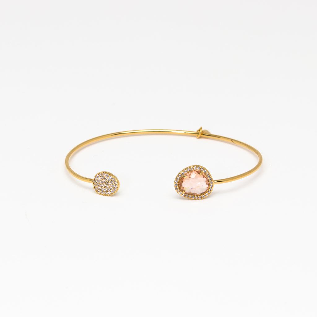 Tai Jewelry - Single Disc Peach Cuff
