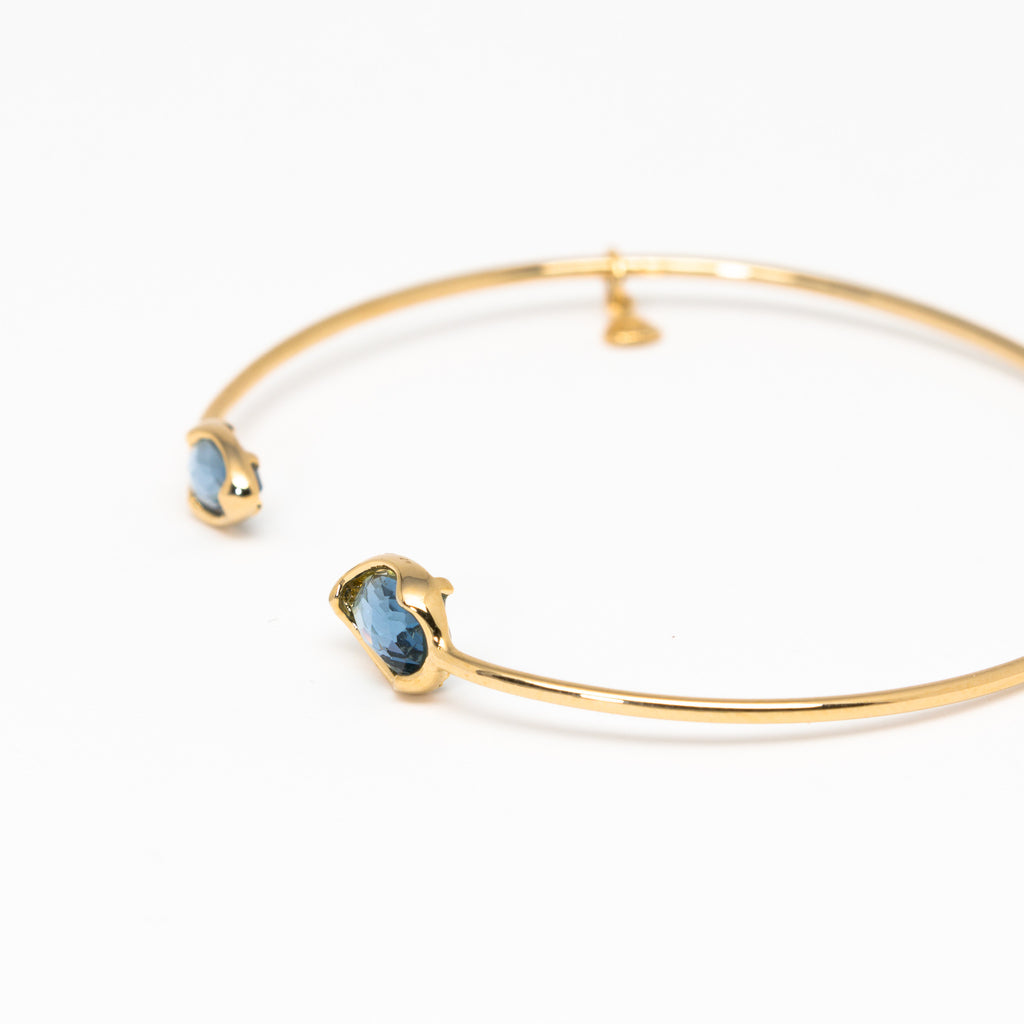 Tai Jewelry - Tear Shaped Blue Open Cuff