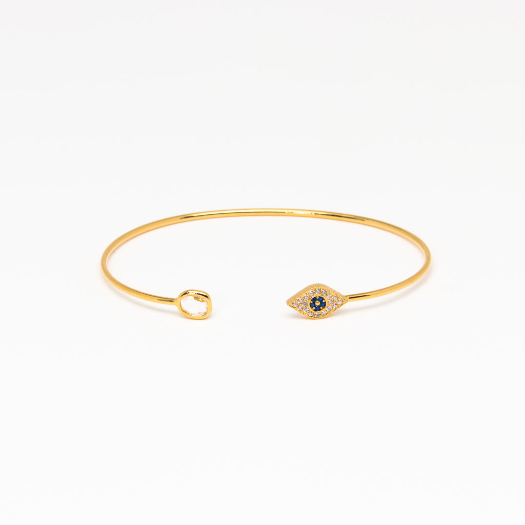 Tai Jewelry - Evil Eye with Clear Cz cuff