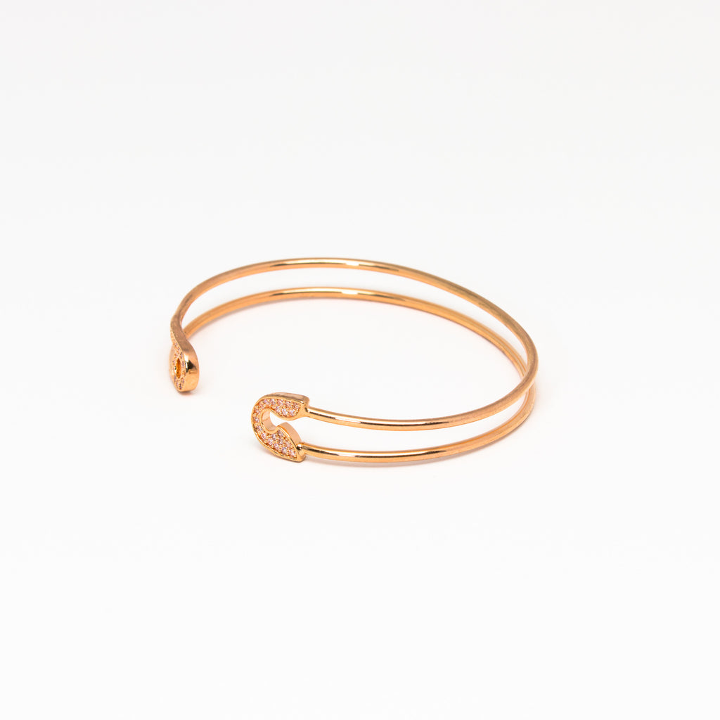 Tai Jewelry - Safety Pin Open Cuff RG