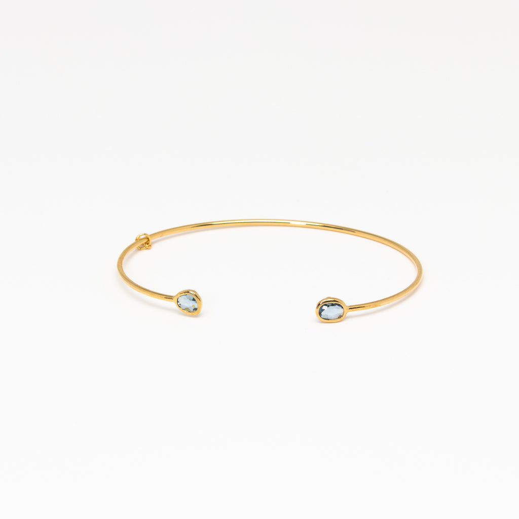 Tai Jewelry - Tiny Blue Open Cuff