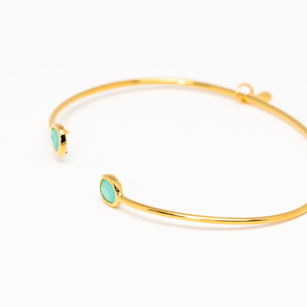Tai Jewelry - Tiny Mint Open Cuff