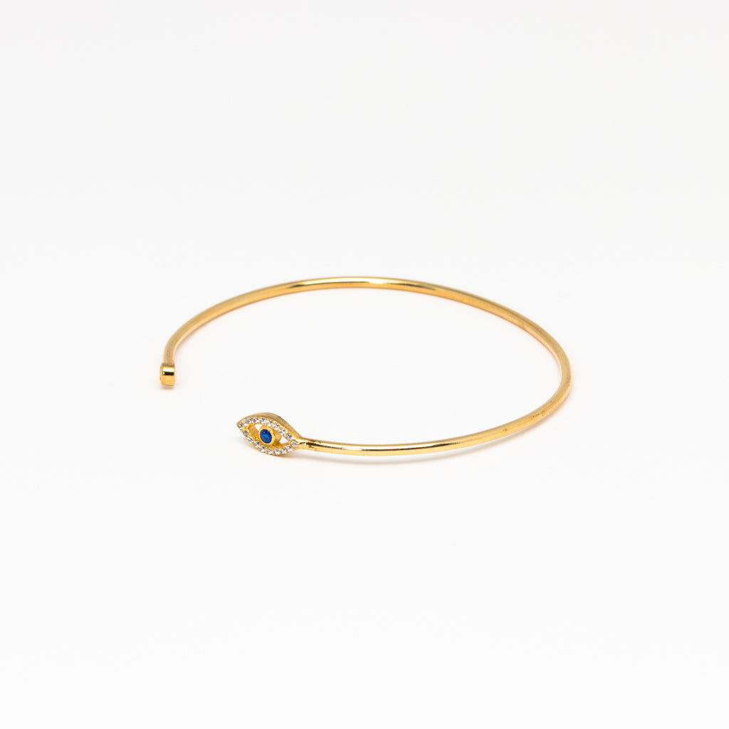 NSC - Evil Eye Cuff Bracelet in Gold