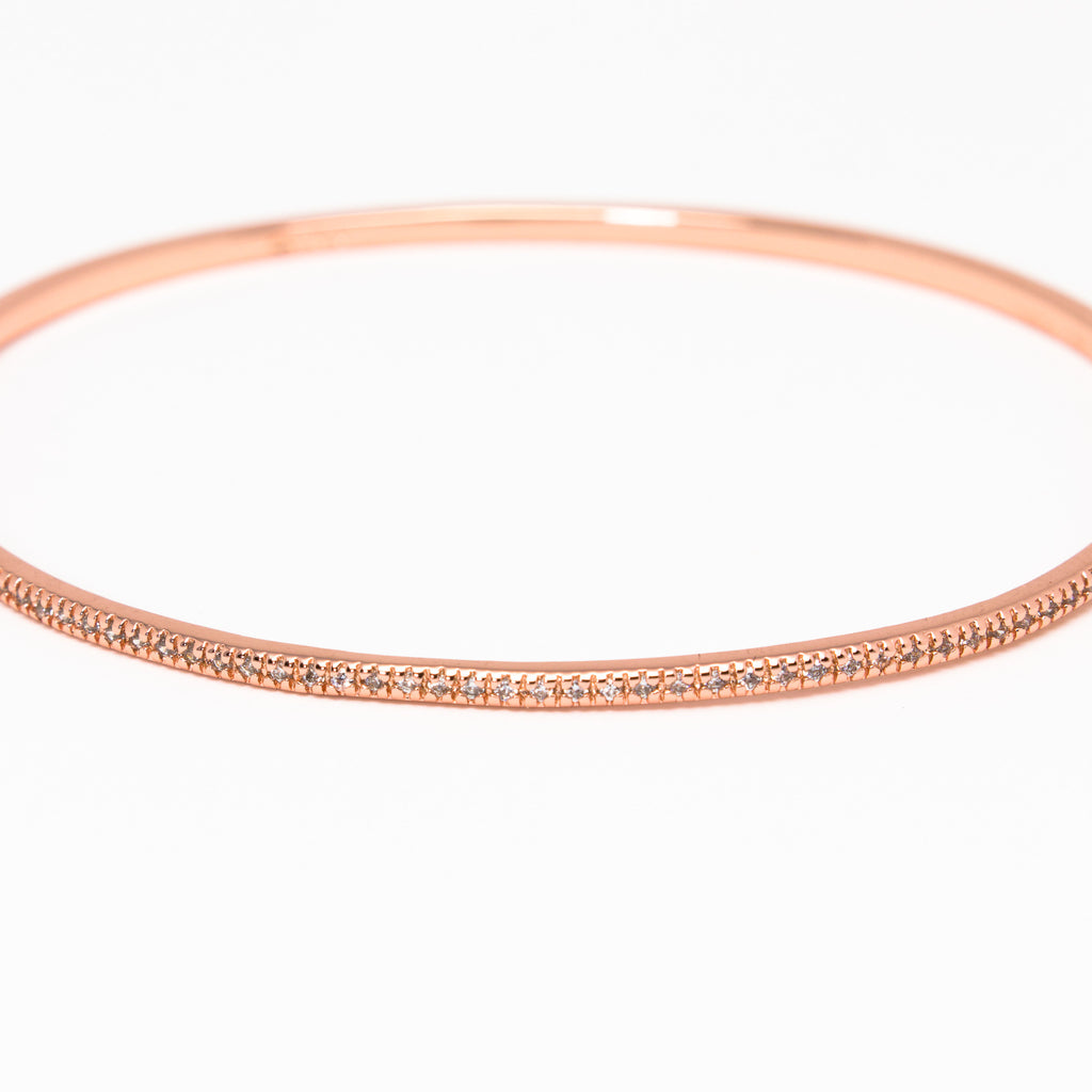 NSC - Micro Pave Cuff in Rose gold