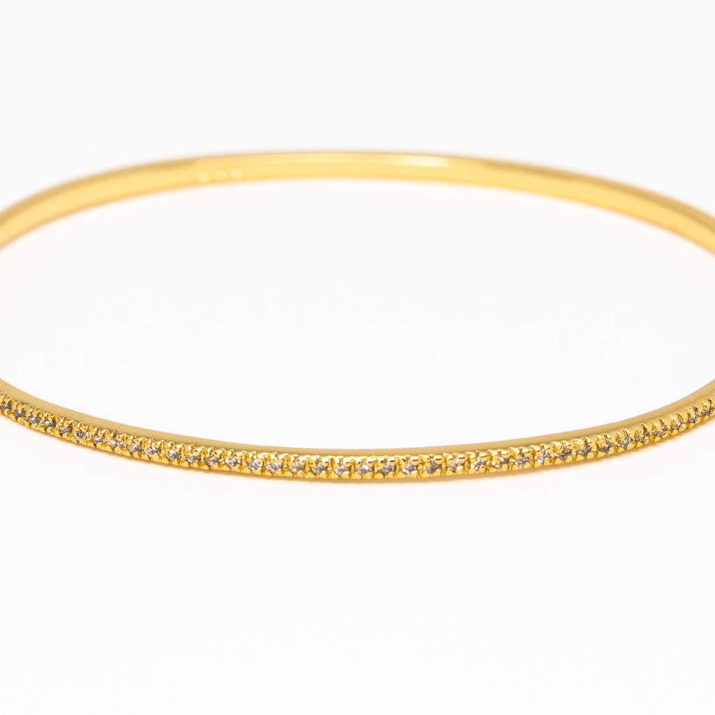 NSC - Micro Pave Cuff in Gold