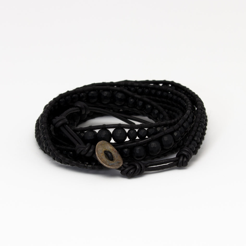Chan Luu - Matte Onyx on Black Leather