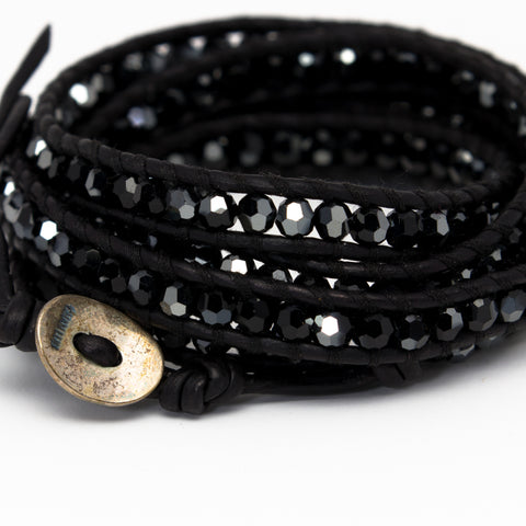 Chan Luu - Crystals Wrap on Black Leather