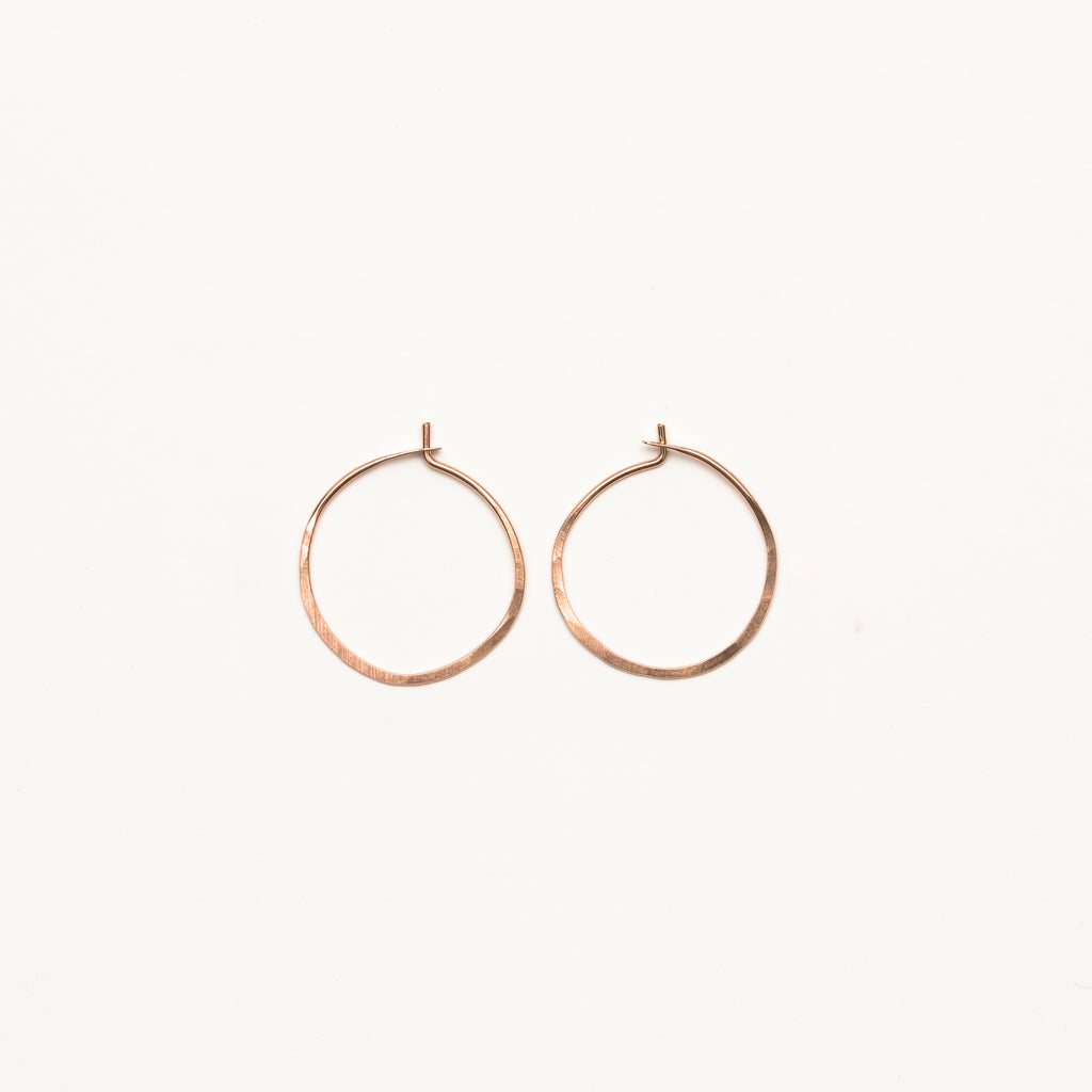 Satomi Studio - Small Hammered Hoops